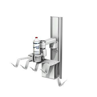 Single Gel Cup Mount Kit on Patient Lead Organizer