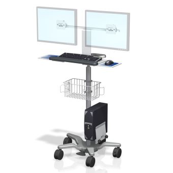 VHRS Variable Height Roll Stand Dual Monitor Workstation