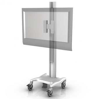 Large Flat Panel/TV Variable Height Mobile Mount