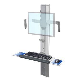 Höhenvariable GCX-Profilschiene VHC mit Bildschirm und Tastatur