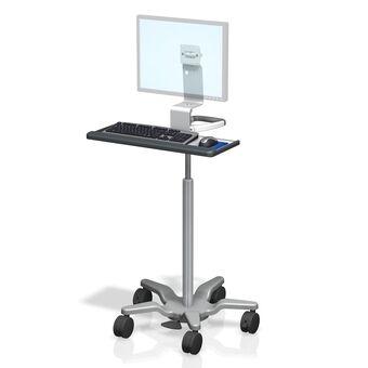 Monitor y teclado en carrito médico de altura variable VHRS