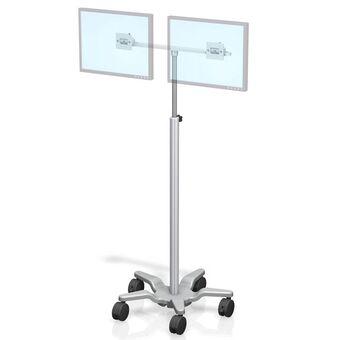 Carrito médico de altura variable VHRS para doble monitor