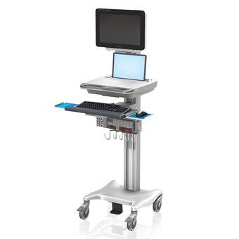 Philips IntelliVue MX600/700/800 sur poste de travail configurable de hauteur variable VHRC avec boîtier pour ordinateur portable