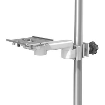 """M Series 8"""" / 20.3 cm Pivot Arm with Slide-In Mounting Plate and Post/Pole Clamp Interface"""