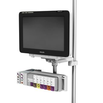 M Series 旋转臂上的 Philips IntelliVue MX600/700/800,带 38 毫米立柱接口