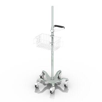 Socle roulant de hauteur fixe pour appareils légers avec interface à pince pour colonne
