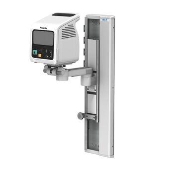 M Series 旋转臂上的 Philips SureSigns VSi、VS2 和 VS2+,使用 VHC 可变高度滑道