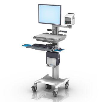 Philips SureSigns VSi 和 VS2+ VHRC 可变高度可配置工作站,带监护仪和键盘