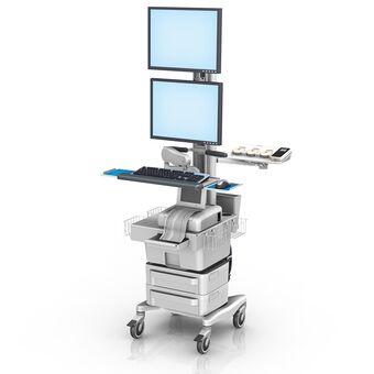 Philips FM20/30 胎儿监护工作站,带双垂直监护仪安装架