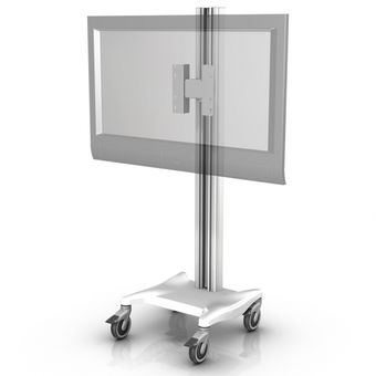 Large Flat Panel/TV Fixed Height Mobile Mount