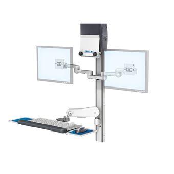"""Poste de travail à deux écrans à bras articulés série M de 20,3 cm x 20,3 cm (8"""" x 8"""")"""