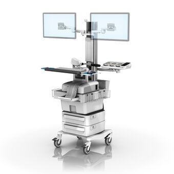 Philips FM20/30 胎儿监护工作站,带双水平监护仪架