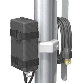 パワーサプライマウント ケーブルクリート付 5.1cm径ポスト取付用