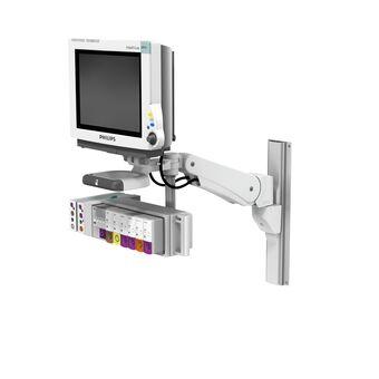 VHM-PL 可变高度臂滑道架上的 Philips IntelliVue MP60/70,带垂直位置锁定