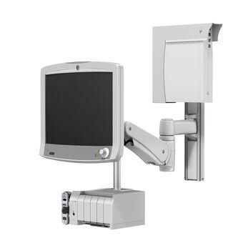 GE CARESCAPE Monitor B850 sur support pour profilé à bras de hauteur variable VHM-P avec suspente et unité centrale