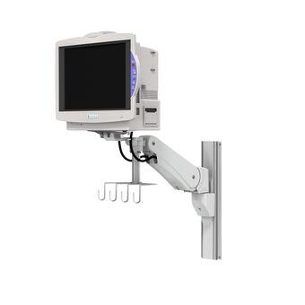 Nihon Kohden Lifescope TR BSM-6300 / 6500 / 6700 sur support pour profilé à bras de hauteur variable VHM-P