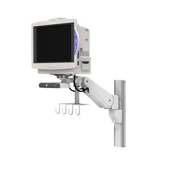 Nihon Kohden Lifescope TR BSM-6300 / 6500 / 6700 sur support pour profilé à bras de hauteur variable VHM-PL avec verrouillage de position verticale