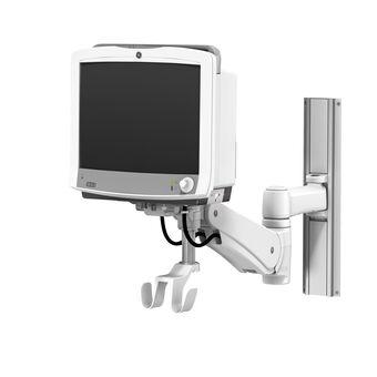 GE CARESCAPE Monitor B650 sur support pour profilé à bras de hauteur variable VHM-P