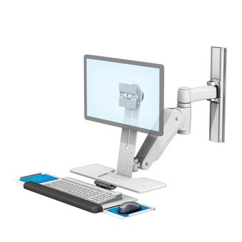 VHM-P Variable Height Arm Workstation with L Bracket