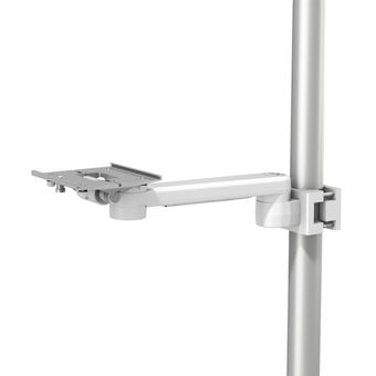 """M Series 12"""" / 30.5 cm Pivot Arm with Slide-In Mounting Plate and Post/Pole Clamp Interface"""