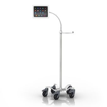 Tablet Roll Stand with Gooseneck