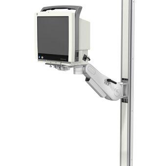 VHM 可变高度臂滑道架上的 GE CARESCAPE 监护仪 B450