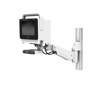 VHM-PL 可变高度臂滑道架上的 Philips IntelliVue MX400-MX550,带垂直位置锁定