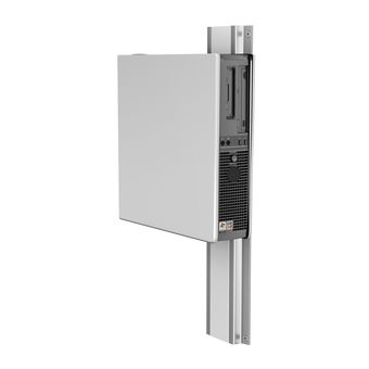 "Flush CPU Channel Mount with 5""/12.7cm  Slide-in Mounting Plate"