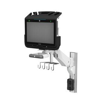 Échographe GE Healthcare Venue Go™ PoC sur bras de hauteur variable VHM-PL à verrouillage de position verticale