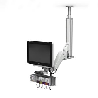 VHM-PL 可变高度臂上的 Philips IntelliVue MX600/MX700/MX800 吊顶安装架