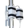 """Support d'alimentation électrique double avec porte-câble pour colonne de 5,1 cm (2"""")"""