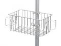 带绕线器和线缆钩的通用篮,用于带直径为 1.25 英寸/3.2 厘米的立柱的轻型滑轮支架