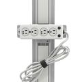 医療グレード4個口電源タップ 4.6m電源コード付 チャネル取付用(UL 1363A適合)