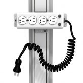 Buy GCX Channel Mount Medical Grade 4-Outlet Power Strip with 10' Coiled Cord (UL 1363A Rating)