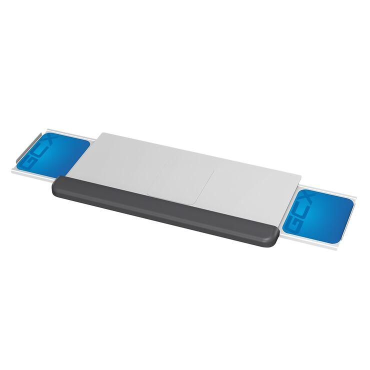 WM-0023-56 - 20.8 英寸/52.8 厘米人体工学键盘托盘,带腕托、滑出式鼠标托盘和底盖