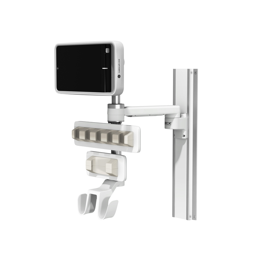 Carescape One 12in M Series 19in Channel 6inch Down Post 6inch Up Post Large Small Active Probe Holder Dual Hooks L