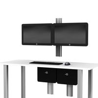 GE CCS dual Hor Monitor desk L