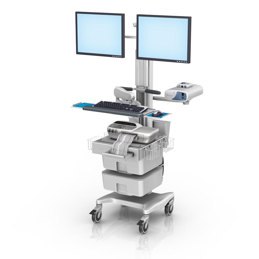 GE Corometrics 170 Series Fetal Monitoring Workstation with Dual Horizontal Monitors