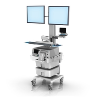 Monica FM fixed Height Roll Cart dual Monitor Mount no Telemetry loaded LG