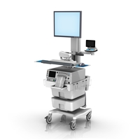 Monica FM fixed Height Roll Cart single Monitor no Telemetry loaded LG