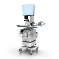 Monica FM fixed Height Roll Cart single Monitor with Telemetry loaded LG