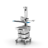 Monica FM fixed Height Roll Cart single Monitor with Telemetry unloaded LG