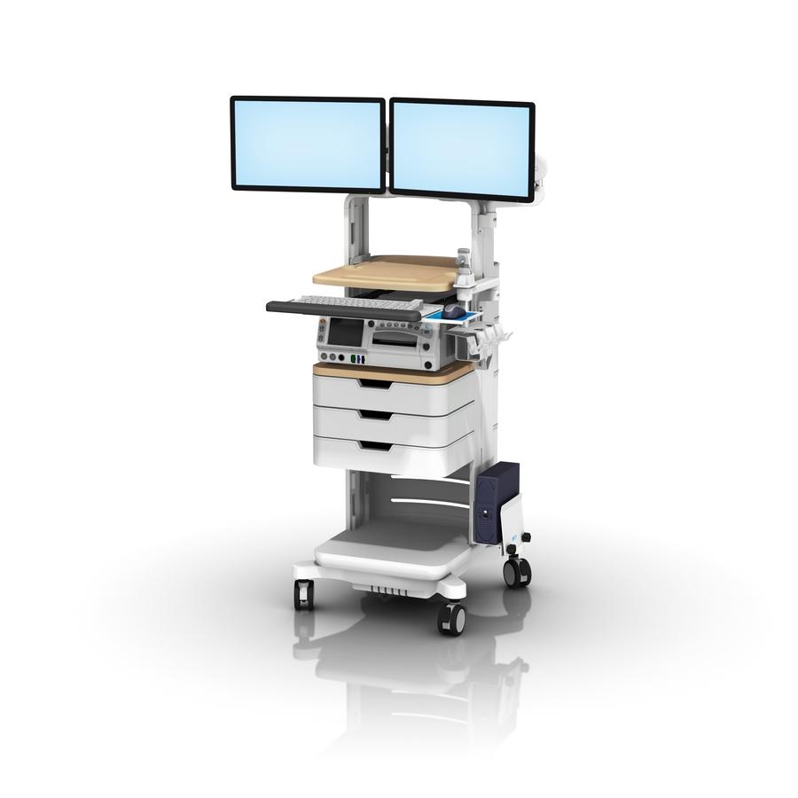 FMC GE250 Bar Cde Scanner Dual Monitor Sliding Keyboard L