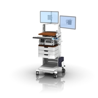 FMC GE250 Bar Cde Scanner Dual Monitor Sliding Keyboard ws 0008 04 Technical