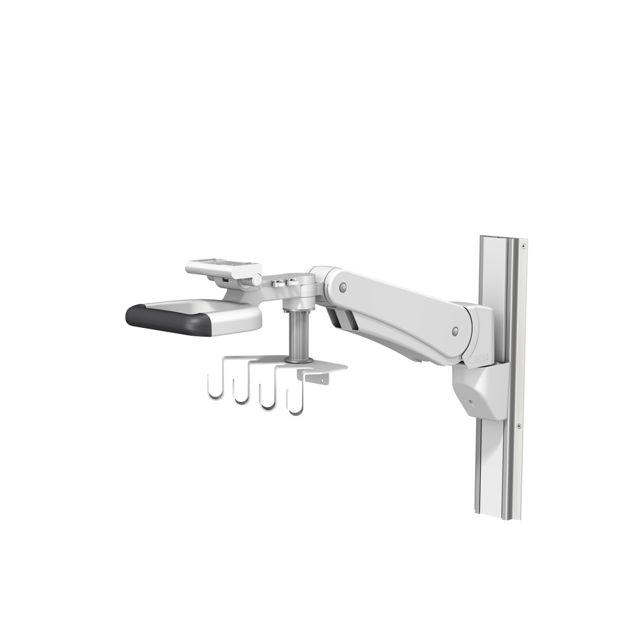 PH 0079 01 Mx400 Down Post Four Hooks wall Channel unloaded LG
