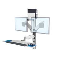 Vhm25 Butterfly Arm Keyboard Dual Monitors front Technical LG