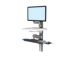 Wall Channel Generic Monitor RST 0009 23 Vhm25 Exts Folded Keyboard Tray L