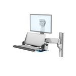 带多位置工作台面的 VHM-P 可变高度臂工作站