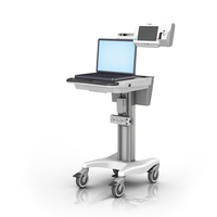 Welch Allyn Up CS Mworkstation VHRC 16in Mseries laptop Wtray loaded LG